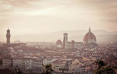 Sunset Over Florence Art Print by KOMA medien