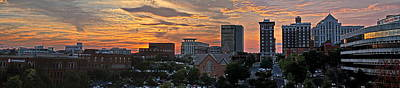 David Kennedy Photograph - Sunset Over Greenville Sc by David Kennedy