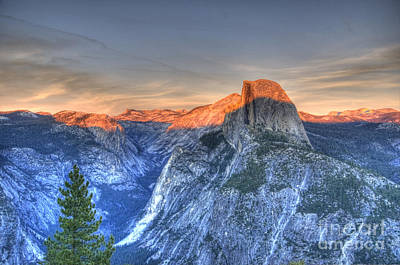 Photograph - Sunset Over Half Dome by Jim And Emily Bush