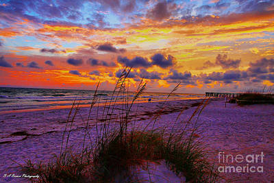 Photograph - Sunset Over Indian Shores by Barbara Bowen