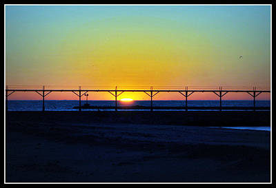 Photograph - Sunset Over Lake Michigan by Lora Mercado