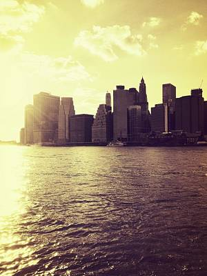 City Photograph - Sunset Over Manhattan by Vivienne Gucwa