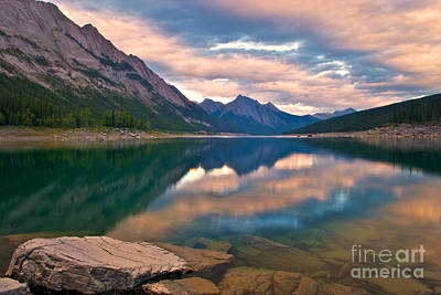 Photograph - Sunset Over Medicine Lake by James Steinberg and Photo Researchers