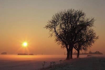 Lincolnshire Photograph - Sunset Over Sea by Katherine Pocklington