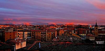 Sunset Over Segovia ... Art Print by Juergen Weiss