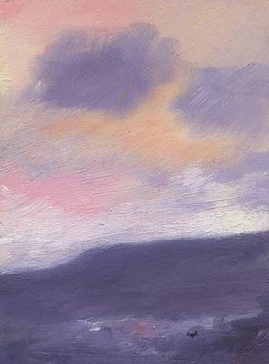 Fading Painting - Sunset Over St Boniface Down by Alan Daysh