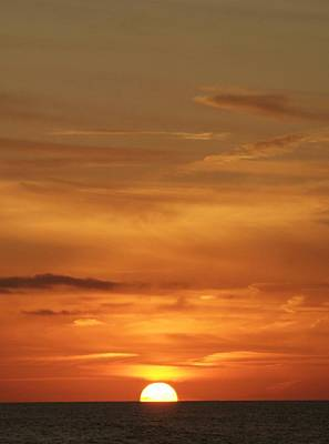 Photograph - Sunset Over The Atlantic by Christopher Kirby