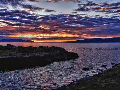 Photograph - Sunset Over The Isles by Fiona Messenger
