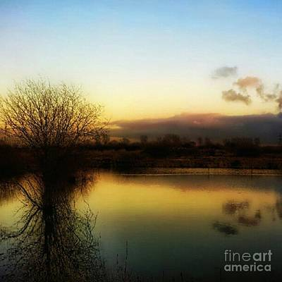 Water Wall Art - Photograph - Sunset Over The Lake by Abbie Shores