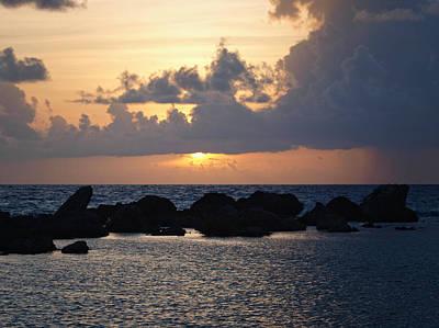 Sunset Over The Ocean Art Print by Philip G