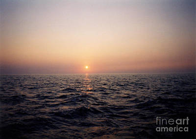 Sunset Over The Ocean Art Print by Thomas Luca