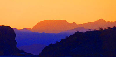 Sunset Over The Sierra Gigantes Art Print