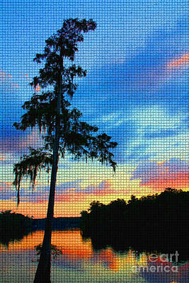 Photograph - Sunset Over The Suwanee Mosaic by Barbara Bowen