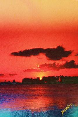 Sunset Over Three Lakes Art Print