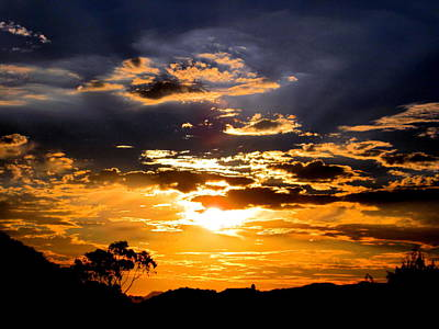 Photograph - Sunset Over Topanga by Catherine Natalia  Roche
