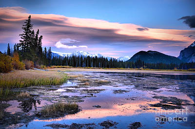 Photograph - Sunset Over Vermillion Lakes by Tara Turner