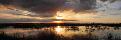 Photograph - Sunset Over Wetlands Panorama by Francesa Miller
