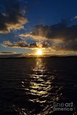 Sunset Over Winnepesaukee Art Print