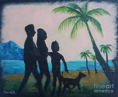 Sunset Palms Original by Monika Shepherdson