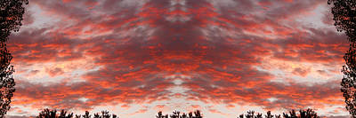 Sunset Panorama Psychedelic Trance Art Print by James BO  Insogna