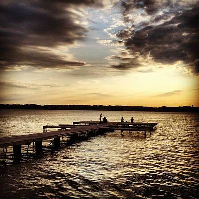 Photograph - Sunset Pier by Lora Mercado
