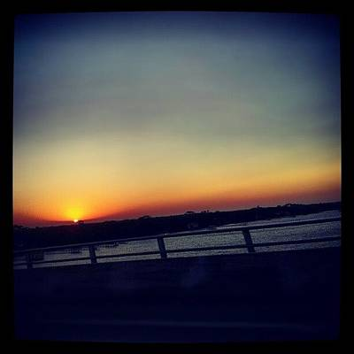 Cool Photograph - #sunset #rainbow #cool #bridge #driving by Mandy Shupp