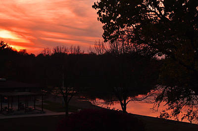 Photograph - Sunset Reflection by Gene Sherrill