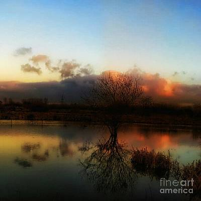 Sundown Photograph - Sunset Reflections by Isabella F Abbie Shores