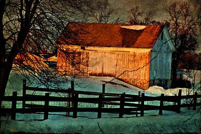 Sunset Reflects - Aged Photo Art Print