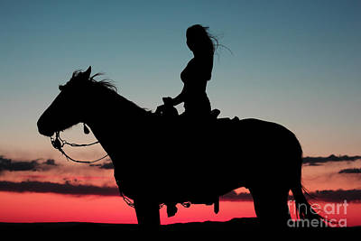 Sunset Ride Art Print by Val Armstrong