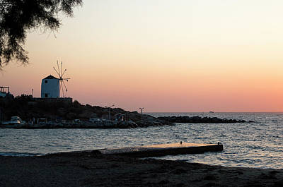 Photograph - Sunset Serene Paros Island by Lorraine Devon Wilke