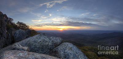 Shenandoah National Park Photograph - Sunset Shenandoah National Park Marys Rock by Dustin K Ryan