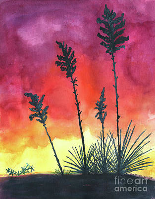 Painting - Sunset Silhouette by Eric Samuelson