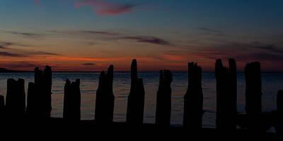 Sunset Silhouette Art Print by Matt Dobson