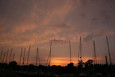 Sunset Sky Annapolis Art Print by Valia Bradshaw