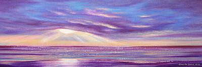 Sunset Spectacular - Panoramic Sunset Art Print