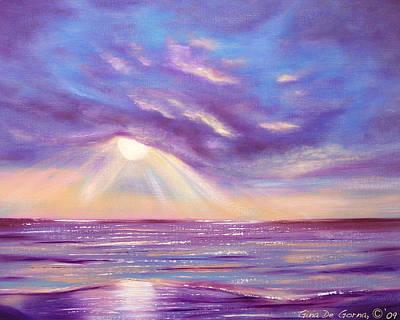 Tropical Art Painting - Sunset Spectacular by Gina De Gorna