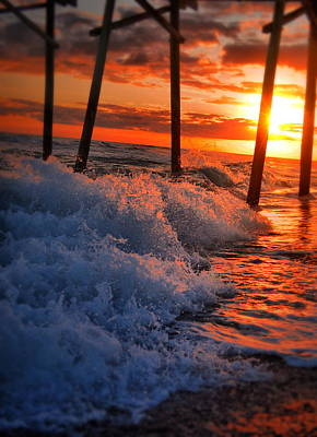 Photograph - Sunset Splash by Emily Stauring
