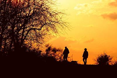 Photograph - Sunset Stroll by Ed Lukas