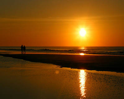 Photograph - Sunset Stroll by Mark J Seefeldt