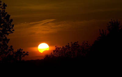 Art Print featuring the photograph Sunset Sun Eclipse by Nick Mares
