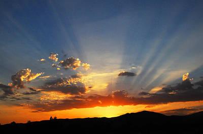 Sunset Sun Rays Art Print by Lynn Bauer