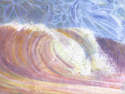 Huntington Beach Painting - Sunset Surf by Arlissa Vaughn