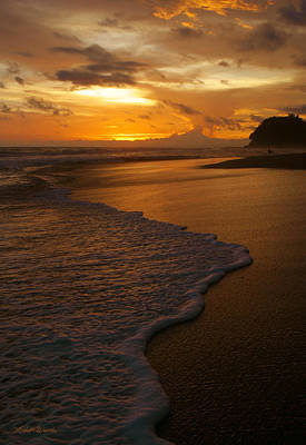 Sunset Surf Playa Hermosa Costa Rica Print by Michelle Wiarda
