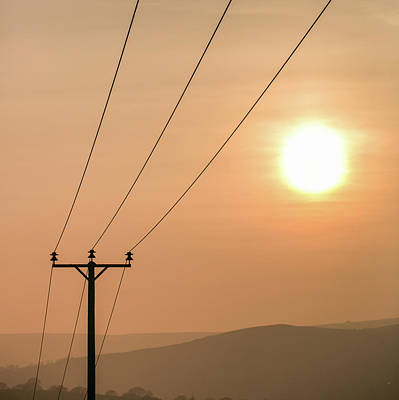 Sunset Telecoms Art Print by Peter Chadwick LRPS