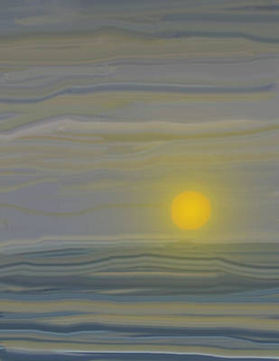 Digital Art - Sunset Three Abstract by Ian  MacDonald