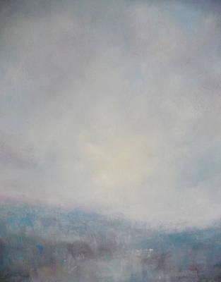 Sunset Through The Mist Over Stenbury Down Art Print by Alan Daysh