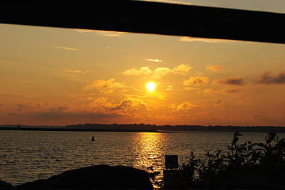 Art Print featuring the photograph Sunset Through The Rails by Michael Frank Jr