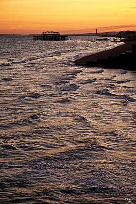 Photograph - Sunset Time At Brighton by Chris Lord
