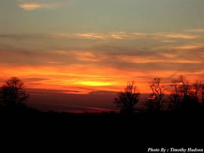 Sunset Art Print by Timothy Hudson